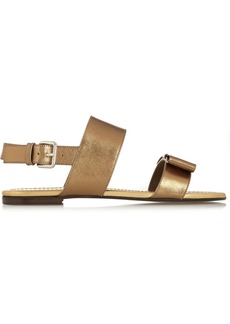 Marni Metallic textured-leather sandals