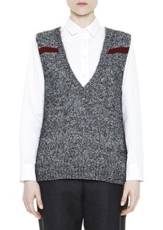 Marni Mélange Feather Jewel-Back Sweater Vest