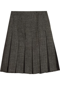 Marni Organza and wool-blend tweed skirt