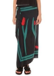Marni Painted Cascade Long Skirt