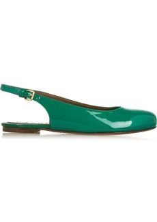 Marni Patent-leather slingback ballet flats