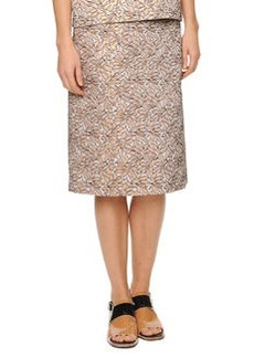 Marni Pleat-Back Jacquard Skirt