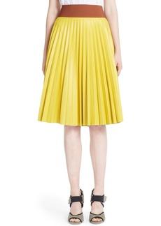 Marni Pleated Nappa Leather Skirt