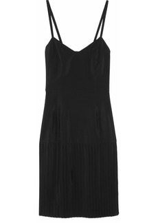 Marni Pleated satin-crepe slip dress