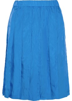 Marni Pleated satin skirt
