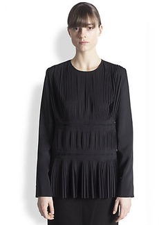 Marni Pleated Silk Blouse