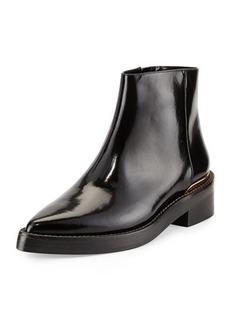 Marni Point-Toe Calfskin Chelsea Boot, Coal