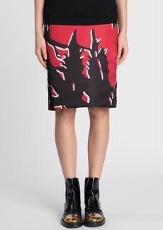 Marni Print Duchesse Satin Pencil Skirt