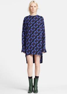 Marni Print Long Sleeve Shift Dress