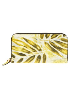 Marni Print Saffiano Leather Zip Wallet