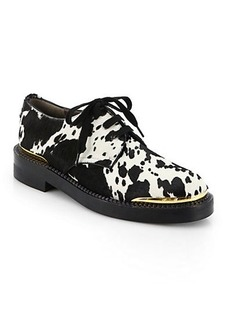 Marni Printed Calf Hair Lace-Up Oxfords