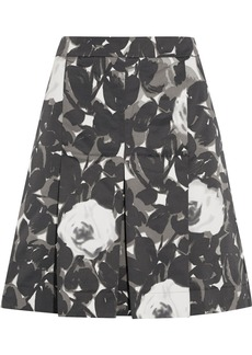 Marni Printed cotton-blend satin skirt