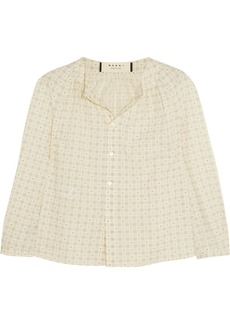 Marni Printed cotton blouse