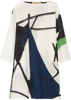 Marni Printed cotton-poplin dress