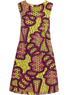 Marni Printed satin-crepe dress