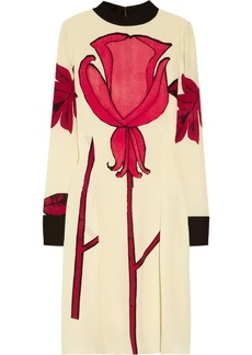 Marni Printed silk-blend crepe dress