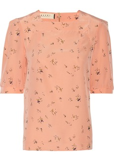 Marni Printed silk blouse