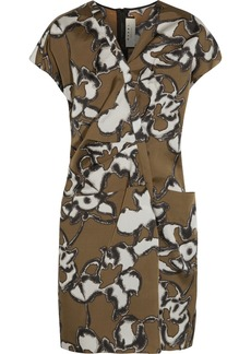 Marni Printed silk-taffeta dress