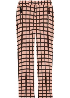 Marni Printed wool-blend straight-leg pants