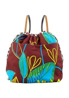 Marni Reversible Nylon Backpack, Brown Multi