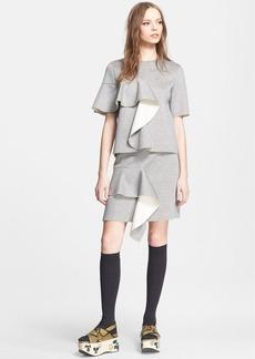 Marni Ruffle Detail Bonded Jersey Skirt