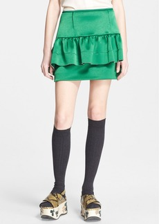 Marni Ruffle Detail Satin Skirt