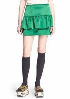 Marni Ruffle Detail Satin Skirt