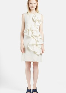 Marni Ruffle Trim Cotton Blend Sheath Dress