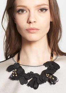 Marni Saffiano Leather Necklace