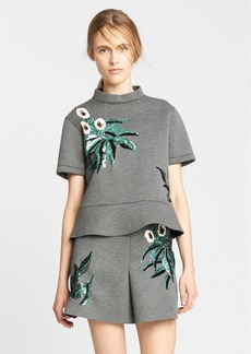 Marni Sequin Embroidered Bonded Jersey Top