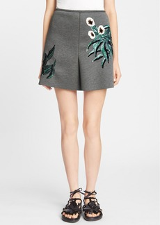 Marni Sequin Embroidered Bonded Neoprene Skirt