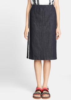 Marni Side Stripe Denim Skirt