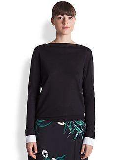 Marni Silk & Cotton Boatneck Pullover