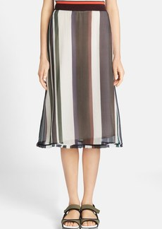 Marni Stripe Crepon Chiffon Skirt