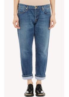 Marni Stripe-Cuff Boyfriend Jeans
