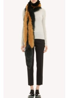 Marni Striped Fur Stole