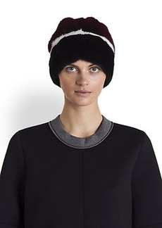 Marni Striped Mink Fur Hat