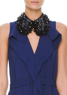 Marni Studded Beaded Hook Collar