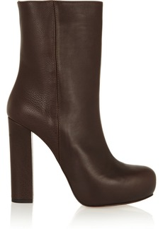 Marni Textured-leather ankle boots