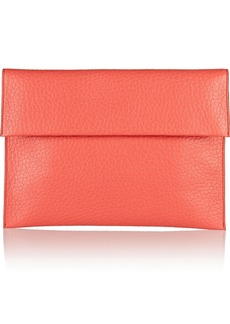 Marni Textured-leather envelope clutch