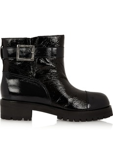 Marni Textured patent-leather ankle boots