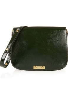 Marni Textured patent-leather shoulder bag