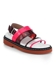 Marni Translucent & Patent Leather Sandals