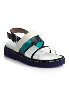 Marni Translucent & Patent Leather Sandals