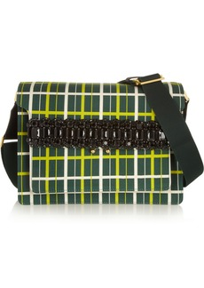 Marni Trunk printed cotton and silk-blend shoulder bag