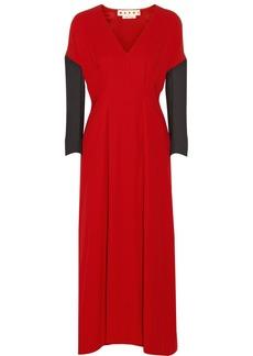 Marni Two-tone crepe midi dress