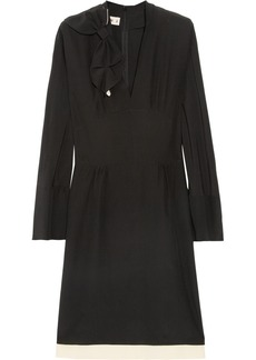 Marni Two-tone silk-crepe dress