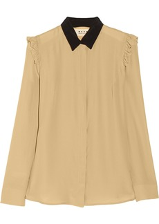 Marni Washed silk-blend blouse