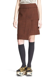 Marni Wool Blend Tweed A-Line  Skirt