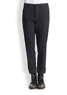 Marni Woven Stretch Wool Trousers